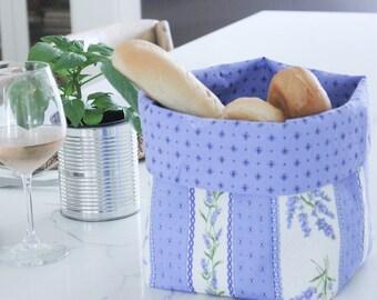 Bread Basket, French Fabric Bread Basket, Fabric Basket