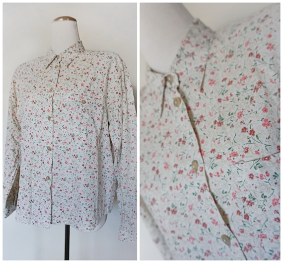 1970s Ditsy Floral Shirt | Liberty Print Style | C