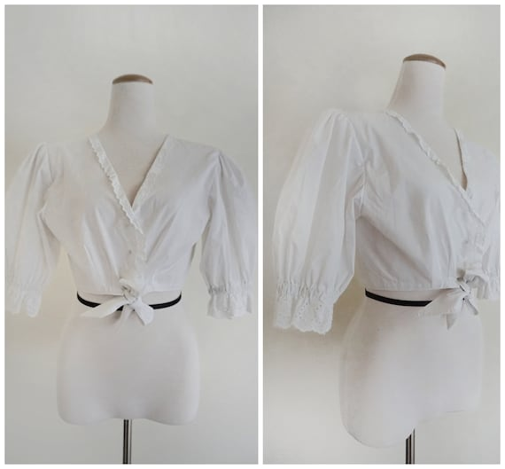 Rare 70s Austrian Puff-Sleeved Blouse | Folk Blous