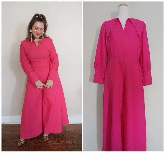 Incredible 1970s Jumpsuit in Hot Pink