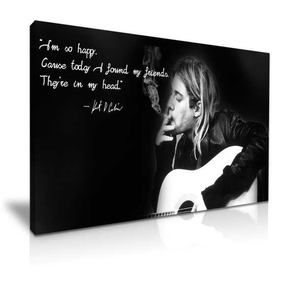 Kurt Cobain Nirvana Stretched Canvas ~ More Size