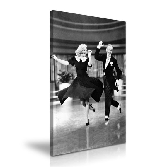 Swing Time Ginger Rogers Fred Astaire Film Stretched Canvas Etsy