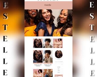 Responsive Wordpress Theme for Bloggers - Wordpress Blog - Beautiful Website Feminine Blog Template - Genesis Child Theme - Black Branding