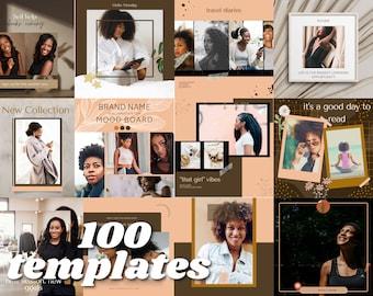 Blogger Business Instagram Canva Post Templates   50 Instagram Post Template   50 Instagram Story template   Black Woman Instagram Photos