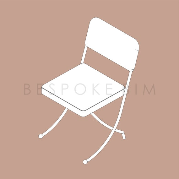 Fine Vintage Style Folding Side Chair Revit Family Rfa File By Bespoke Bim Andrewgaddart Wooden Chair Designs For Living Room Andrewgaddartcom