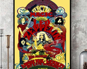 LED ZEPPELIN ALBUM COVER 24x36 poster ROBERT PLANT JIMMY PAGE JONES BONHAM ICON!