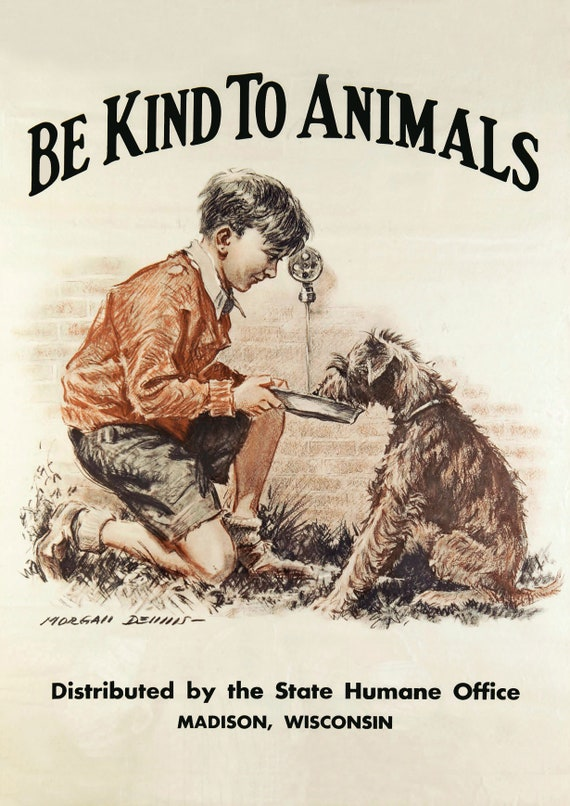 Canvas Be Kind To Animals Art print POSTER