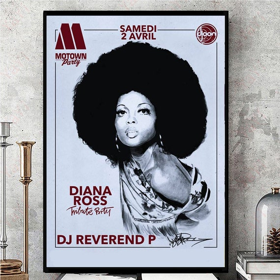 Art print POSTER Canvas Diana Ross in Concert