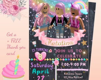 Girls roblox party   Etsy