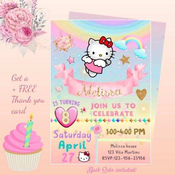 Hello Kitty Invitation Hello Kitty Invitation Birthday Hello Kitty Invitation For Birthday