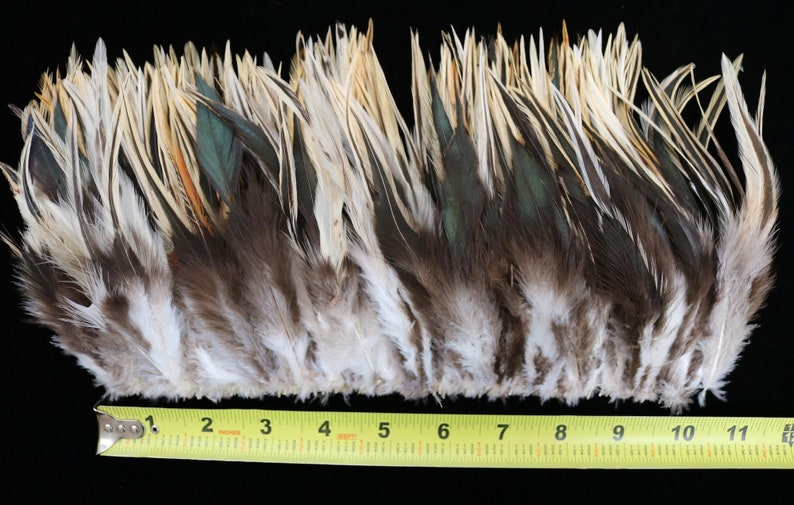 Crafts 33 12/'/' Strung Natural Color Red 4/'/'-6/'/' High Black and Badger Saddle Hackle Feathers Doll Hair 3 Strands Millinery Fly Tying