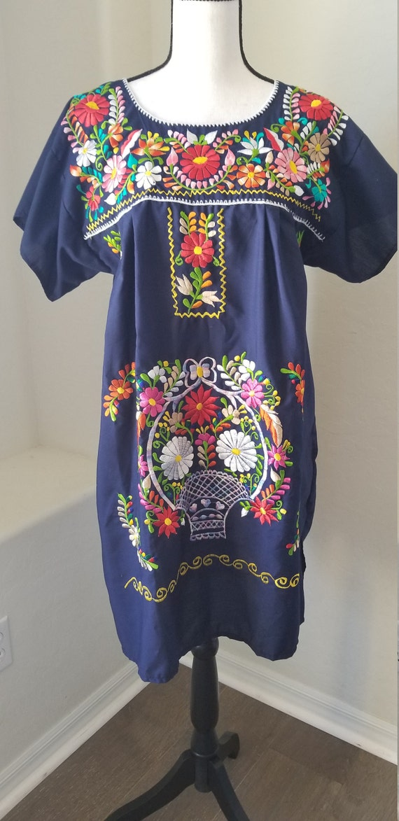 Women's Mexican Embroidered Puebla Knee Length Boh