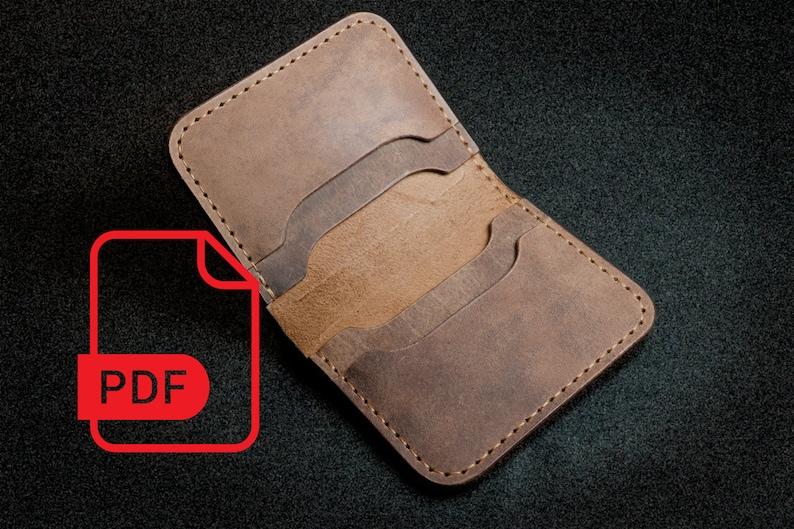 PDF Template Download Pattern Leather Mini Biker Wallet DIY Leather