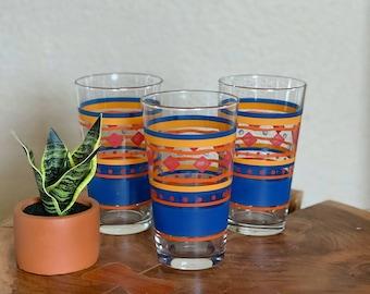 Boho Eclectic Kitchen Dining Decor Southwest Pueblo Vintage Southwest Drinking Glasses