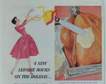 1959 Kraft Pure Strawberry Preserves Vintage Magazine Ad Vintage Jellies and Jams Advertisement Print Retro Kitchen Ice Cream Wall Decor