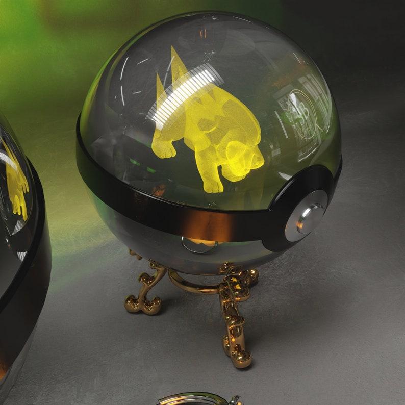 grandma gifts mothers day gift mom gift Pokemon Electrike Shiny Ball Crystal Pokeball Pokemon gifts