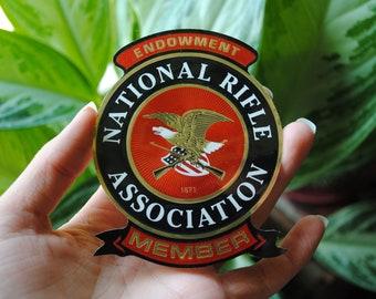 New Old Stock VINTAGE Illinois State Rifle Association Sticker 60/'s-70/'s