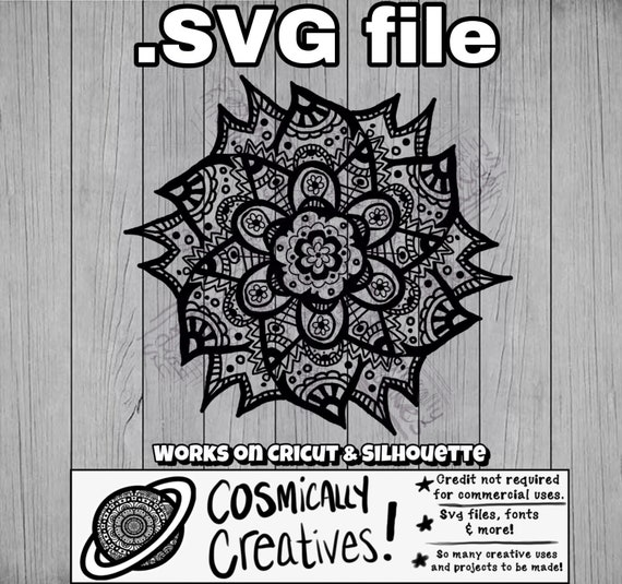 Mandala Style Mandalas Zentangle Svg File Cut Files Svg Etsy