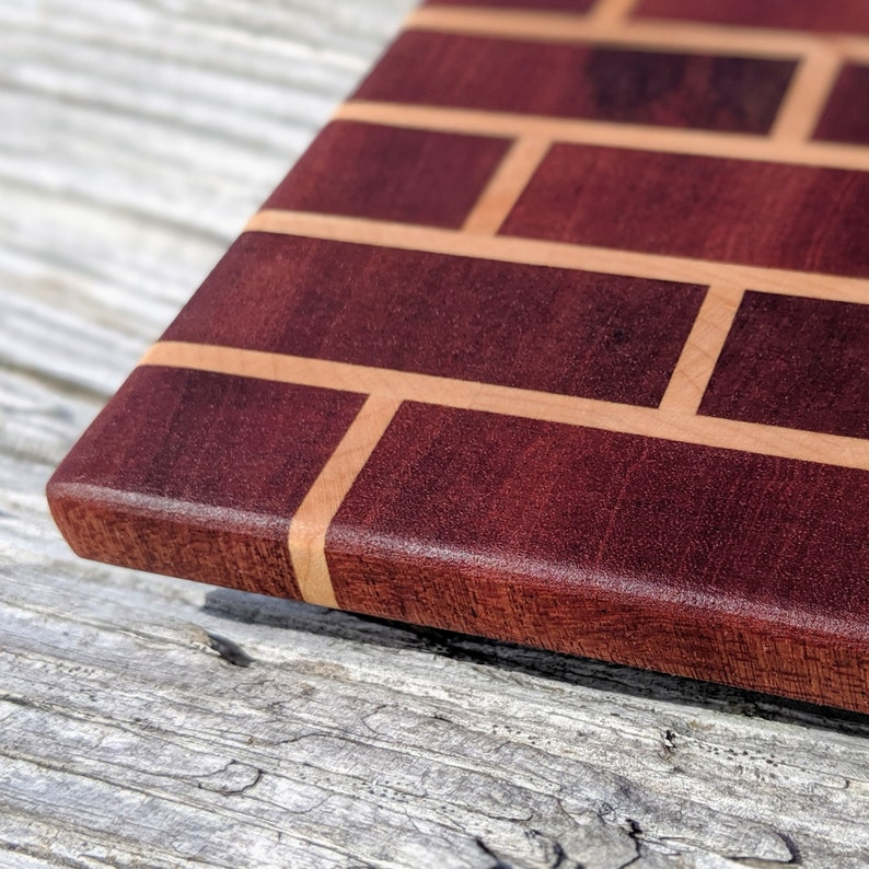 End-Grain Sapele /& Maple Handmade Cutting Board