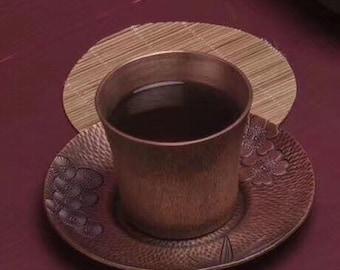 eb83b893e89 Copper tea pad and tea cup set