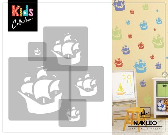 Nursery KIDS Template BICYCLE 5x reusable PLASTIC Stencils 34x34cm to 9x9cm