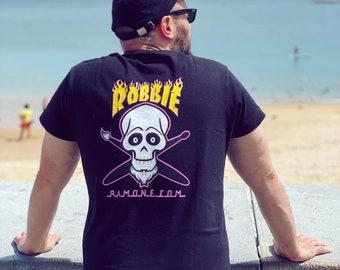 Robbie Ramone Logo T Shirt, Skater Clothing, Punk rock music shirt, Short Sleeve Shirt to surf, Tank Top for Hardcore Music Lovers