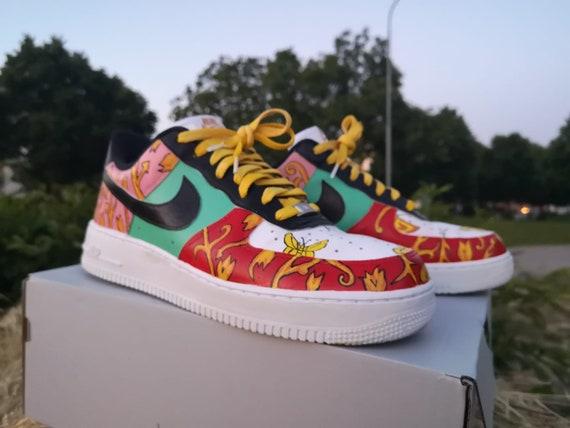 Custom Hand Painted Versace Nike Air
