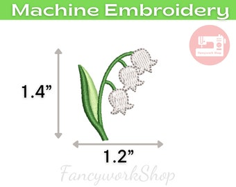 Lily Of The Valley Machine Embroidery Design | Mini Flower | Tiny Flower | Small Flower | 4x4hoop | Instant Download | 1 inch