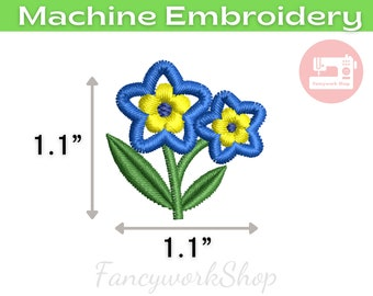 Mini Flower 1 inch Machine Embroidery Design | Violet | Pansy | Tiny Flower | Small Flower | 4x4hoop | Instant Download