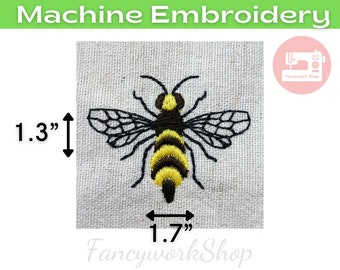 Mini Queen Bee Machine Embroidery Design | Mini Insect Bug | Tiny Bee | Small Bee | 4x4hoop | Instant Download | 1 inch