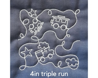 """Edge to edge machine embroidery quilting 