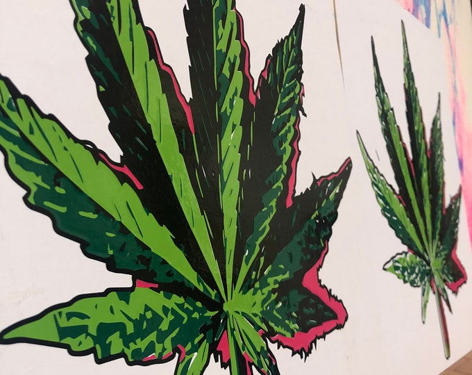 Cannabis Leaf- Sticker Art Piece