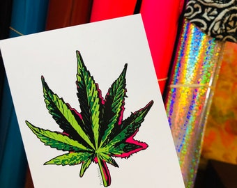 Cannabis Leaf  *ART PRINT *