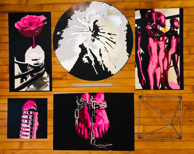 FemDom Chrome Collection - ART - Vinyl on metal