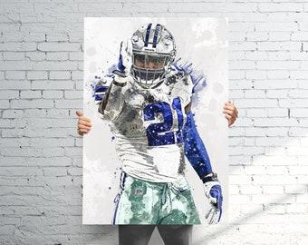 Dallas Cowboys Helmet Logo Poster 24x36 Texas NFL Football Silver Blue Football