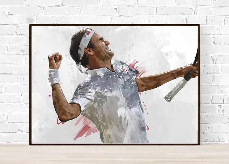 Roger Federer Tennis Sport Giant Wall Art Poster Print