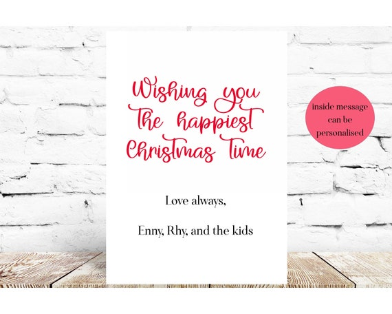 Christmas Card Pack Name Personalised Etsy