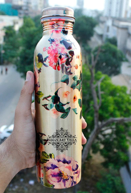 Copper Printed Flower Design Bottle Variants Available