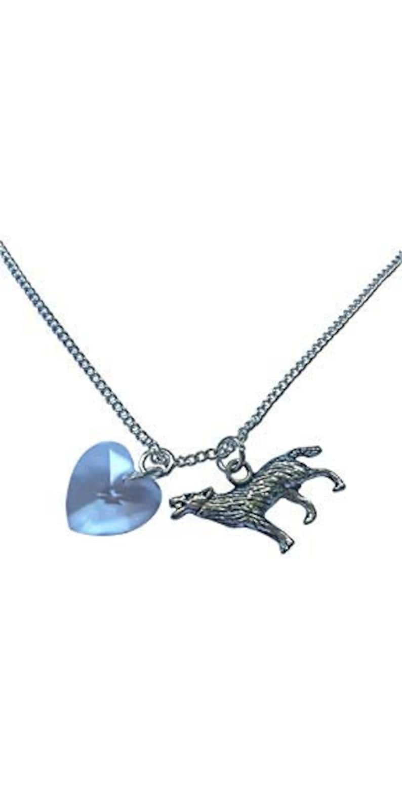 Twilight Bella Wolf And Heart Bracelet Silver Plated