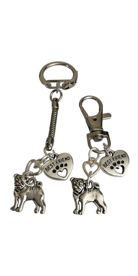 Schlüsselanhänger Mops Hund 2