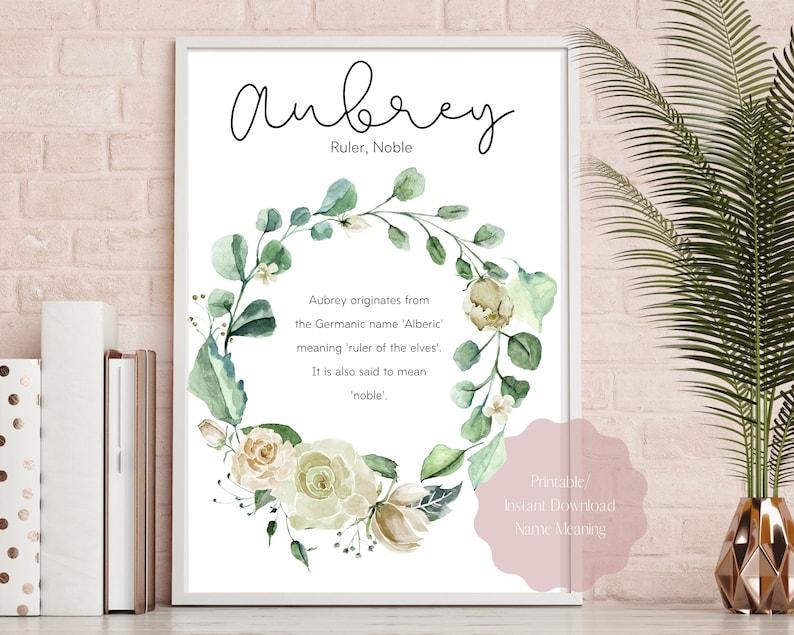 Aubrey name meaning printAubrey name meaning art Aubrey | Etsy
