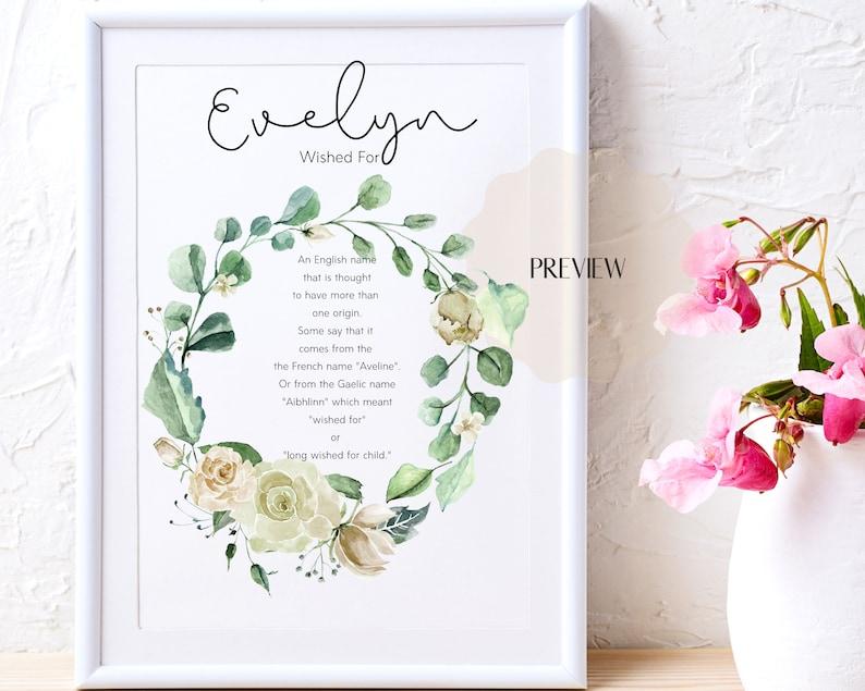 Evelyn name meaning art Evelyn printable name art Evelyn ...