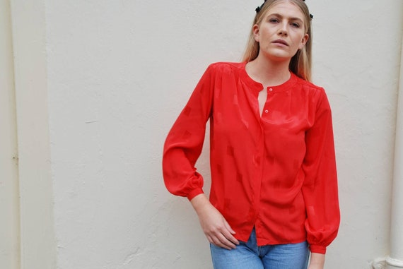 Vintage 80/'s Red Blouse