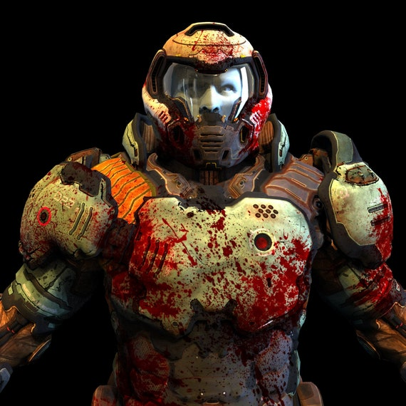 Doom Slayer Doomguy Wearable Armor 3d Model Etsy