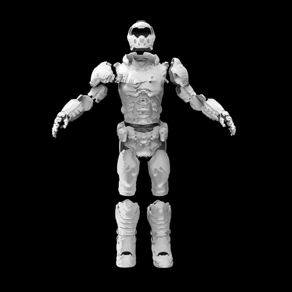 Doom Slayer Doomguy Wearable Armor 3d Model Etsy