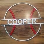 Personalized metal baseball sign