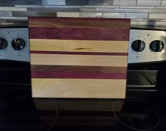Handmade wood cutting board.