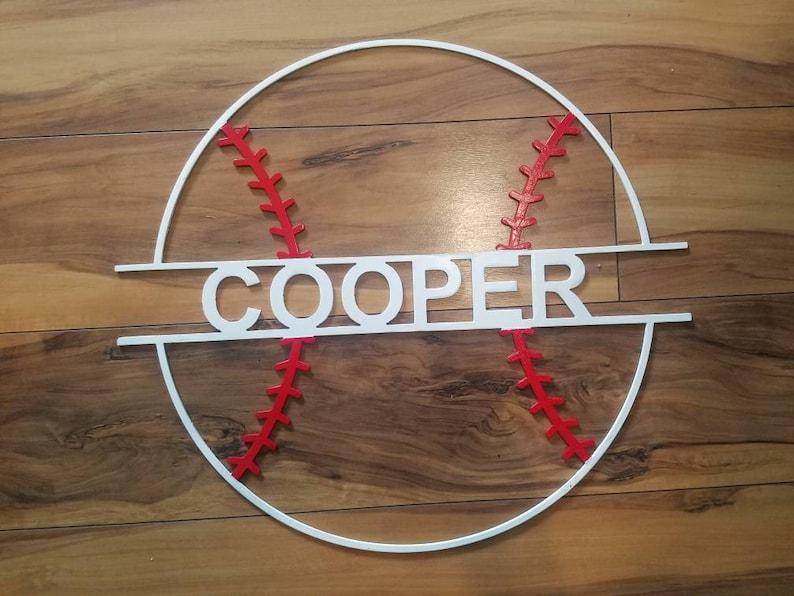 Personalized metal baseball sign image 0