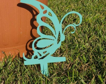 Butterfly and dragonfly garden stakes.