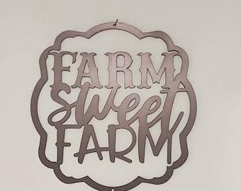 Farm Sweet Farm Metal sign